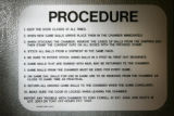 (BG0261) A posted set of procedures is posted in the environmental chamber where the weight of the...