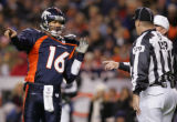 [RMN1110] - In the third quarter, Denver Broncos quarterback Jake Plummer complains to officials...