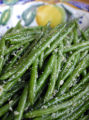 (NYT48) UNDATED -- Nov. 14, 2006 -- THANKSGIVING-GREENS -- String beans with garlic and ginger....