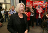 (DLM0352) -  Marilyn Musgrave walks into the Weld County Republicans' victory party at the Island...