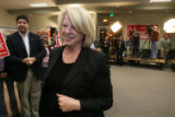 (DLM0360) -  Marilyn Musgrave walks into the Weld County Republicans' victory party at the Island...