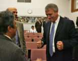 Bill Ritter, Colorado's newly elected governor, showed up at House Democratic caucuses Thursday...