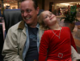 Nick McCormac and his daughter Shea, 6, (cq), Westminster, Colo., sit together on a break during...