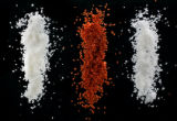 Gourmet salts and peppers, from Savory Spice Shop at 1537 Platte St. in Denver on November 13,...