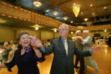 Ralph and Jeanette Hill (Cq), compete in a waltz competition at the 59th Annual Golden Wedding...