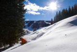 Jason Roberts finds the deep powder on Vail's opening day. Credit: Scott Cramer/Vail Resorts. Nov....