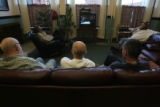 The lobby of the Barth with all the chairs full in the afternoon for movie time.   STEVEN R...