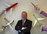 Mike Boyd (cq), a well-know aviation consultant in his office Wednesday afternoon November 29,...