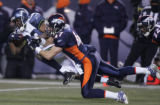 [JPM0571] At 9:42 in the fourth quarter, the Denver Broncos John Lynch (47) tackles Seattle...
