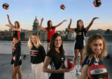 MJM027  Rocky Mountain News volleyball team of the year.  (Full caption to come.)    (MATT...