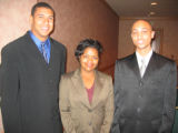 Tribute to Black Youth honorees, from left, Marcus Morgan, Natasha Cochran and Terrence Caldwell....