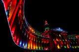 Denver City and County Building is lit during a test early Tuesday morning of the holiday lights,...