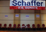 (8/10/2004, Littleton, CO)  Bob Schaffer's election party at the Littleton Marriott South had few...