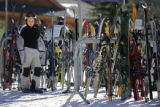 Landis Haggerty (cq), 10, of Denver waits for his family at the base of Winter Park Resort on...