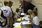 (DENVER, Colo., Aug. 10, 2004)   John Walsh votes at Park Hill Elementary School, Denver, Colo.,...
