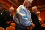 (DLM2569) -   Pearl Harbor remembrance ceremony at Capitol. (DARIN MCGREGOR/ROCKY MOUNTAIN NEWS)