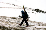 Jim Kirk (cq) heads up the Continental Divide, off Loveland Pass, Thursday afternoon November 16,...