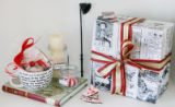 Jen Miller (Cq), has created these gift baskets.  November 30, 2006.  A basket for the reader. ...