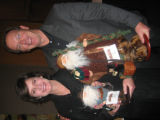 Joni and Scott Wylie, president of the Central City Opera House, purchased a few Santas during the...