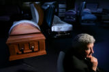 Portrait of Milo Bohlender at his funeral home in Fort Collins on November 28, 2006.  His cousin...