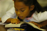 (DENVER COLORADO - August 11, 2004 )  Third grade student Aysia Sigala, at Colfax Elementary -...
