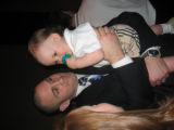 Ian Laperriere with one-year-old ambassador Benjamin Egan. (DAHLIA JEAN WEINSTEIN/ROCKY MOUNTAIN...