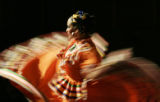 Sofia Lightfield (cq), 14, performs with the Ballet Folklorico Internacional for a Cinco de Mayo...