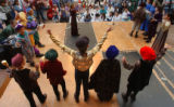 [Denver, CO - Shot on: 5/14/04]  Young actors from Godsman Elementary School perform Shakespeare's...