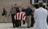 JOE012 Mourners at St. Andrew Methodist Church in Highlands Ranch, Colo., after the memorial...