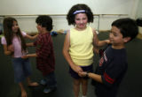 "DLM2486  ""Eew boy germs,"" said Lincoln Elementary third-grader Lori Grace, 8, second..."