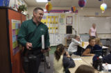 (BYERS, Colo., May 14, 2004)   Dr. Jeff  Perry, Superintendent of Byers School District 32J, ...