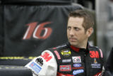 NASCAR driver Greg Biffle waits for practice at Texas Motor Speedway, Friday, April 13, 2007, in...