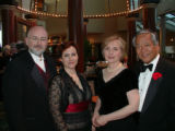 From left, Steve Theis, Denver Bar Association President-elect Elsa Martinez Tenreiro, Alesia...