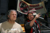 left to right, Tom Satriano, (cq) who is an Italian-American spoke of his feelings for the need to...