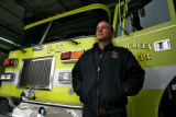 DLM3763  EverGreen Fire Chief Joel Janov at Evergreen Fire Rescue Station 2 in Bergen Park, Colo....