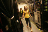 "Annaleigh Ashford walks backstage of Broadway's Palace Theater befor ""Legally Blonde""..."