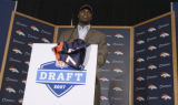 DLM0289  Denver Broncos' second round draft pick, 56th overall, University of Texas defensive end...