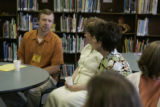 Frank Bingham (cq)sits in the library of Lincoln Elementary School Monday morning April 30, 2007...