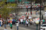 A march for Immigration Reform  at Colfax Ave. and Lincoln Street Tuesday May 1,2007. The march...