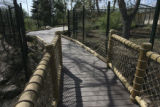 This is part of the newly constructed walkway leading the zoo patron through the exhibit at the...