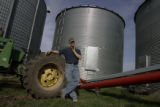 Tom Tancredo's presidential campaign manager in Iowa, Bill Salier (cq), who lives on his farm in...