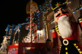 MJM298   A giant nutcracker sits in the driveway at the Broomfield home of Karen Vaught (cq)...