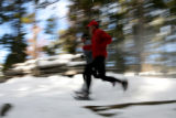 Rocky Mountain Adventure, snowshoers Adam Chase, cq,  and Andrew Maxwell, cq, (forward) run a...