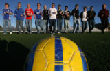 (DLM1645) -   The 2006 Rocky Mountain News All-Colorado boys soccer team photographed at Five Star...
