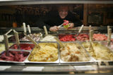Jan Horsfall in his healthy alternative to ice scream strore located at 1411 Larimer St Tuesday...