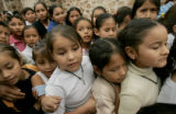 BG2998  Border Street: Six days before Christmas, local children who attend catechism classes line...