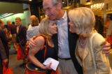 (08/28/2004 New York City)-Congressman Bob Beauprez hugs alternate Delegate Cheri Offnerand his...
