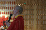(Denver, Colo., August 15, 2004)  The Venerable Shih Yijih, a buddhist monk, leads the...