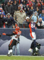 In the second quarter, the Denver Broncos Javon Walker (#84, WR) hauls in a 39 yard touchdown pass...