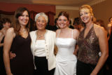 Debutante legacies, from left, Kristin DeLine Linhardt, Kay Braun DeLine, Jessica Alley and Aimee...